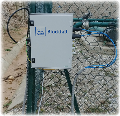 Blockfall DAQ installed in safe area