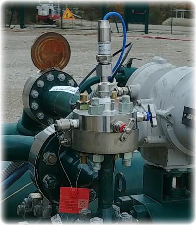 Blockfall system manifold installed on the wellhead
